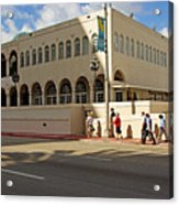 Miami Beach Synagogue Saturday Morning Acrylic Print