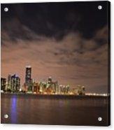 Miami Downtown At Night Acrylic Print