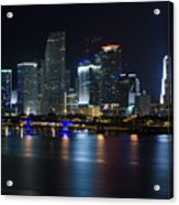 Miami Downtown Skyline Acrylic Print