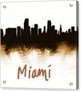 Miami Fla 2 Skyline Acrylic Print