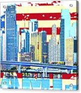 Miami Florida City Skyline Acrylic Print