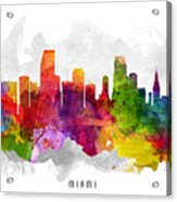 Miami Florida Cityscape 13 Acrylic Print