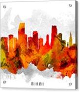 Miami Florida Cityscape 15 Acrylic Print