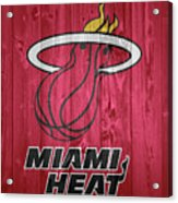Miami Heat Barn Door Acrylic Print