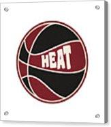 Miami Heat Retro Shirt Acrylic Print