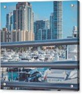 Miami Marina Acrylic Print