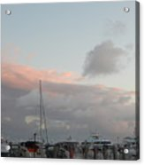 Miami Marina Clouds Acrylic Print