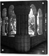 Miami Monastery In Black And White Acrylic Print