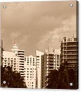Miami  Sepia Sky Acrylic Print