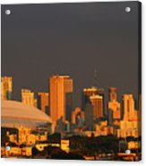 Miami Skyline At Sunset Acrylic Print