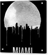 Miami Skyline Black Acrylic Print