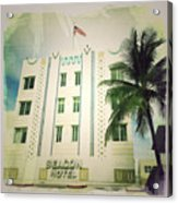 Miami South Beach Ocean Drive 3 Acrylic Print