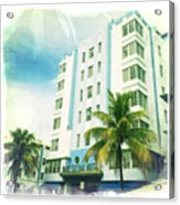 Miami South Beach Ocean Drive 4 Acrylic Print