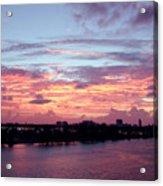 Miami Sunrise Acrylic Print