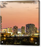 Miami Sunset Skyline Acrylic Print