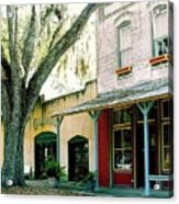 Micanopy Storefronts Acrylic Print