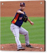 Michael Feliz Houston Astro Pitcher Acrylic Print