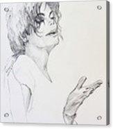 Michael Jackson - In 2001 Ny Acrylic Print
