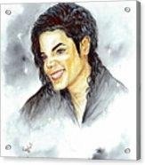 Michael Jackson - Smile Acrylic Print