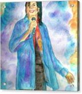 Michael Jackson - The Final Curtain Call Acrylic Print by Nicole Wang