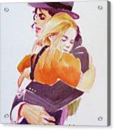 Michael Jackson - With Katie Acrylic Print by Hitomi Osanai