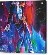 Michael Jackson Action Acrylic Print
