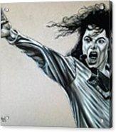 Michael Jackson Acrylic Print by Anastasis  Anastasi