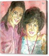 Michael Jackson And Elizabeth Taylor Acrylic Print by Nicole Wang