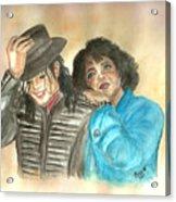 Michael Jackson And Oprah Acrylic Print by Nicole Wang