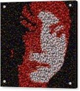 Michael Jackson Bottle Cap Mosaic Acrylic Print