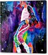 Michael Jackson Dance Acrylic Print by David Lloyd Glover