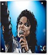 Michael Jackson Icon Acrylic Print by Mike  Haslam