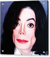 Michael Jackson Mugshot Acrylic Print by Bill Cannon