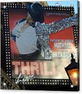 Michael Jackson Musical Acrylic Print by Sophie Vigneault