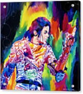 Michael Jackson Showstopper Acrylic Print by David Lloyd Glover