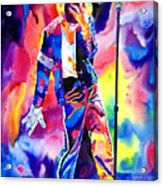 Michael Jackson Sparkle Acrylic Print by David Lloyd Glover