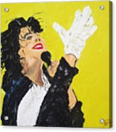 Michael Jackson The Hand Acrylic Print