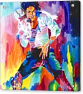 Michael Jackson Wind Acrylic Print by David Lloyd Glover