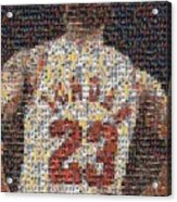 Michael Jordan Card Mosaic 2 Acrylic Print by Paul Van Scott