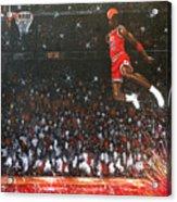 Michael Jordan Custom Painting Acrylic Print
