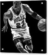 Michael Jordan Drives To The Basket Acrylic Print