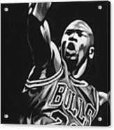 Michael Jordan  Acrylic Print by Don Medina