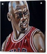 Michael Jordan Acrylic Print by Mikayla Ziegler