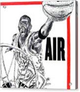 Michael Jordan Acrylic Print by Vincent Wolff