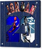 Michael Jordan Wood Art 2c Acrylic Print