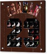 Michael Jordan Wood Art 2h Acrylic Print