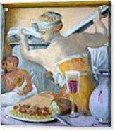Michaelangelo's Lybian Sybil With Dinner Acrylic Print