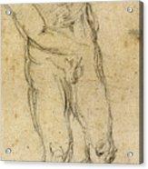 Michelangelo: Male Nude Acrylic Print