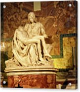 Michelangelo Masterpiece Of A Mother's Love Acrylic Print