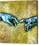 Michelangelo's Creation Of Man Acrylic Print